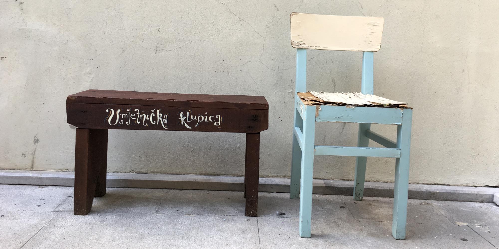 art bench, lovran, hrvatska